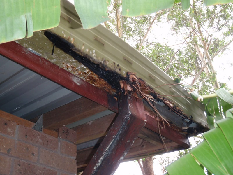 how to fix rusted gutters